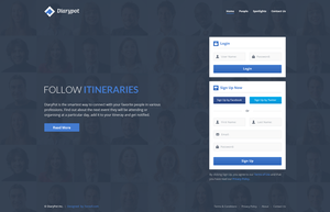 Diarypot Landing Page by begha