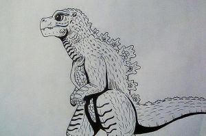 Godzilla Jr. Redesign by DarkSeraphim02