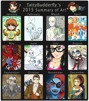TattyBudderfly 2015 Art Summary by TattyBudderfly