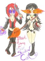 Blood Rayne and S-Cat -update by TitanKitty