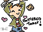 .: Ed loves Buttered Toast:. by Chibi-Sanzo
