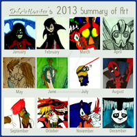 InkArtWriter's 2013 Summary of Art by InkArtWriter