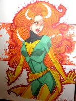 big haired jean grey by JamieFayX