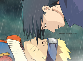Sasuke and  Naruto 233 by Saya00A