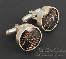 sterling circuit cuff links by thebluekraken