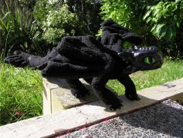 Toothless OOAK Art Creature by CJM99