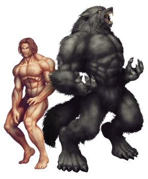 Commish 425: Ryan Werewolf by rhardo