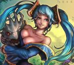 Sona and Kog'maw by ptcrow