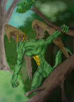 Treale the Forest Wyrm by Truthmessenger79