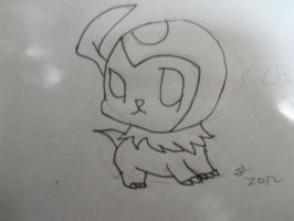 Chibi version of an absol 2012 by hannah5007