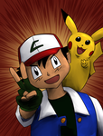 DSC - Dynamic Duo - Ash and Pikachu by RichDoes