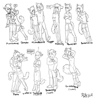 Jellicle High Characters - WIP by ImHerMonster