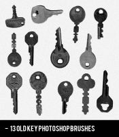 Realistic Old Key Photoshop Brushes by sdwhaven