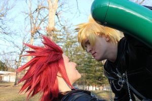 Angsty Roxas and Derp Axel by TinderboxProductions