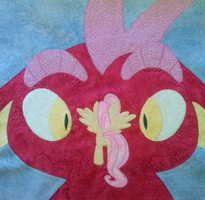MLP FiM: Dragonshy Quilt Square by sugarstitch