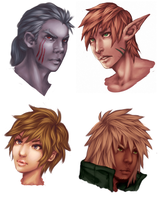 Painted portraits by KAZECoyote