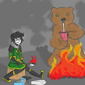 A boy and his bear by bookpixie