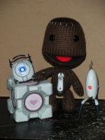 Sackboy in PORTAL 2 by DemonBa55Player