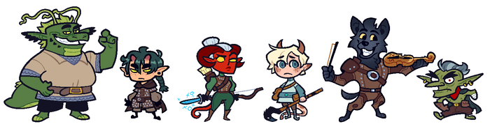 COMMISSION: DnD Group 5 by Cubesona