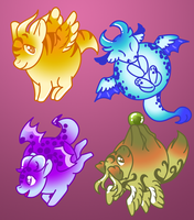 Mini Dragons by AkuOreo