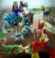My Pokemon Sapphire Team -Updated- by TheDragonInTheCenter