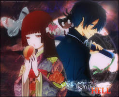 Ai Enma and Rin Okumura by XxClaireStrifexX