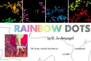Textures - Rainbow Dots by lilbrokenangel