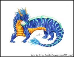 Water Dragon by RoxiBeFox