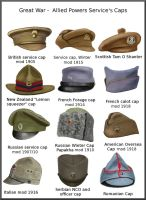 ww1 - Allied Power Service's caps by AndreaSilva60