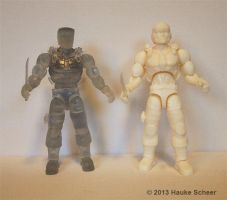 3D printed action hero transparent and white by hauke3000