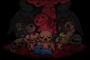 The Binding Of Isaac and Bosses Fan Art by Brainsause