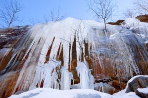 Bear Mountain icicles by Mjag