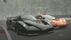 Ferrari Enzo vs Mclaren F1 2 by NightmareRacer85