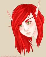 Another Nienna Portrait by The-Jinxx