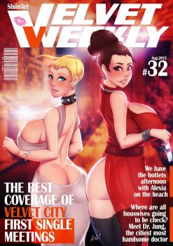 Velvet_Weekly_COVERLayout by TheArtOfAzrael