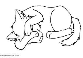 Hide 'n' Seek Wolf Lineart~ by Prettyxmouse