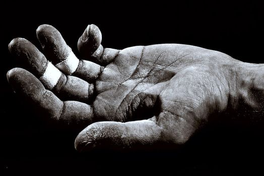 climber's hand by stoval