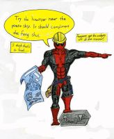 Deadpool as a contractor by The-Primal-Clark