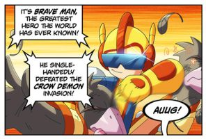 Bravoman Brave-Man panel 1 by D-Gee