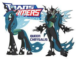 Transformares Queen Chrysalis by Inspectornills