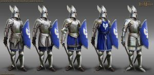 Knights of the  silver swan armour ideas by RobbieMcSweeney