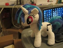 Djpon3 Vinyl Scratch plush by Little-Broy-Peep