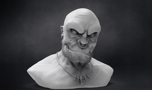 Orc Bust ClayRender by T-Magnus