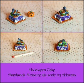 Halloween Cake miniature 1:12 scale by Adoratia