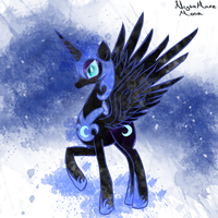 MLP: Nightmare Moon Splash by PonySketchy