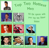 My Top Ten Real Guys by Chibifangirl01