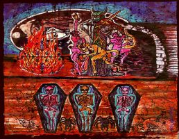 The Ghede brother's St. Vitus' dance by Inner3volutionaryArt