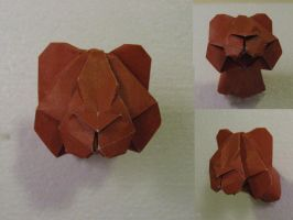Origami Bear or Lion Head by GEN-H
