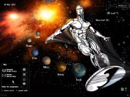 The Silver Surfer by scubabliss