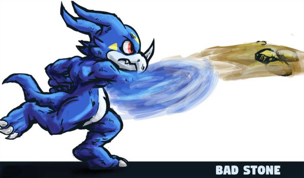 Veemon Bad Stone by runde